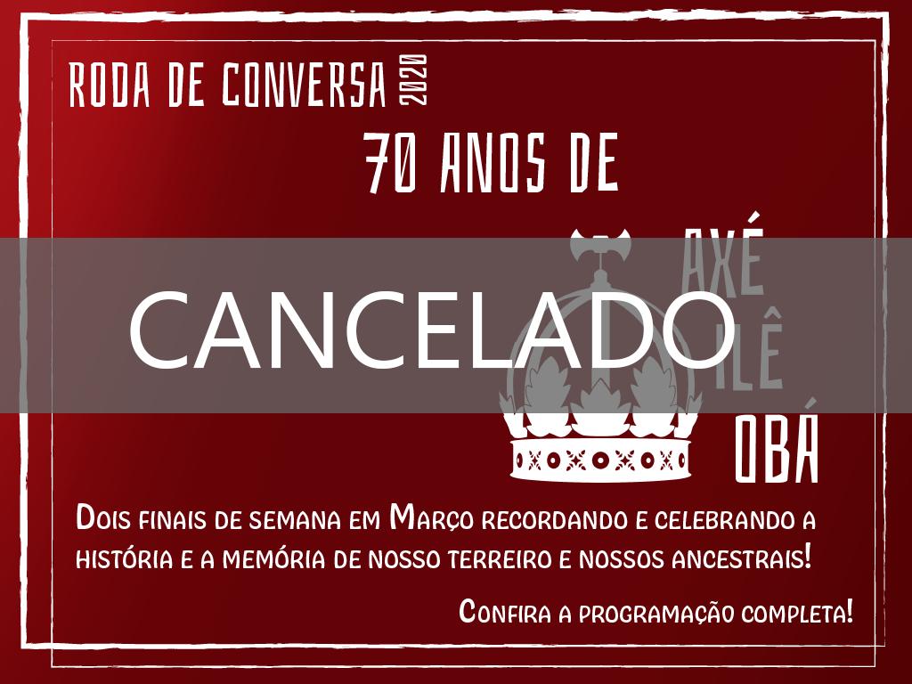 CANCELADO – RODA DE CONVERSA 2020